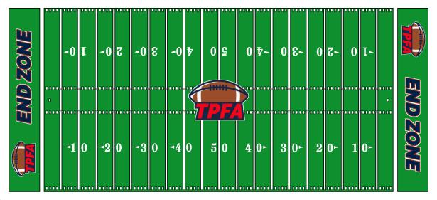 TPFA - Regras do Futebol Americano - Campo de Futebol Americano