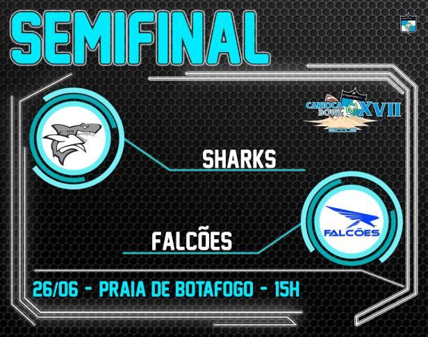 Semifinal Carioca Bowl XVIII - Sharks vc Falcões - 26/06/2016
