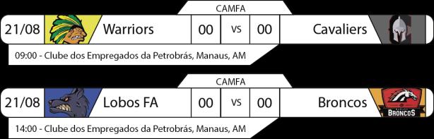 Tudo pelo Futebol Americano - CAMFA - 2016/08/21 - Jogos