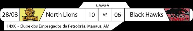 Tudo pelo Futebol Americano - Campeonato Amazonense - CAMFA - 2016-08-28 - Resultados