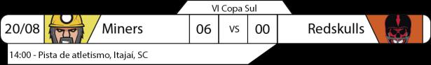 Tudo pelo Futebol Americano - IV Copa Sul - 2016-08-20 e 21 - Resultados