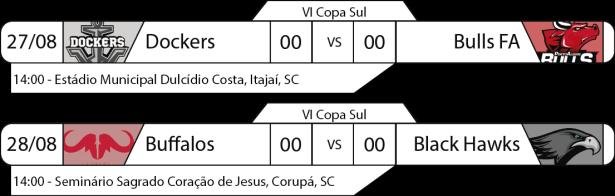 Tudo pelo Futebol Americano - IV Copa Sul - 2016-08-27 e 28 - Jogos