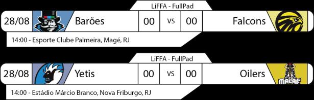 Tudo pelo Futebol Americano - LiFFA - FullPad - 2016-08-28 - Jogos