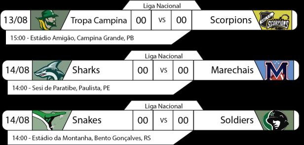 TPFA - Liga Nacional - 2016-08-13 e 14 - Jogos