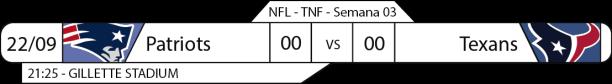 Tudo pelo Futebol Americano - NFL - 2016-09-22 - Semana 03 - Thursday Night Football
