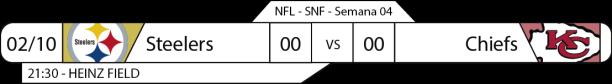 Tudo pelo Futebol Americano - 2016-10-02 - Semana 04 - Sunday Night Football - Steelers x Chiefs