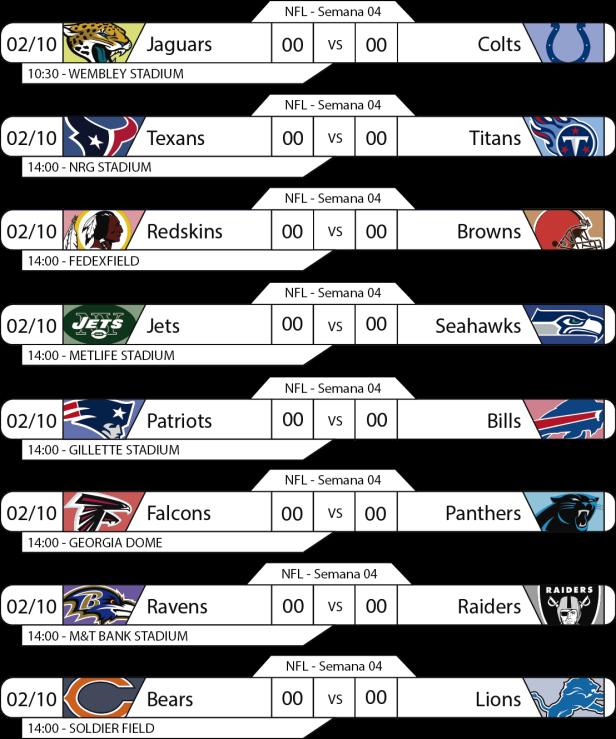 Tudo pelo Futebol Americano - 2016-10-02 - Semana 04 - Jogos 14