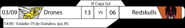 Tudo pelo Futebol Americano - Copa Sul - 2016-09-04 - Resultados