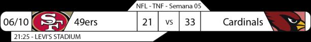 Tudo pelo Futebol Americano - 2016-10-06 - Semana 05 - Thursday Night Football - Resultado 49ers x Cardinals