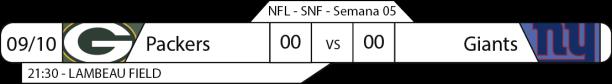 Tudo pelo Futebol Americano - 2016-10-09 - Semana 05 - Sunday Night Football - Packers x Giants