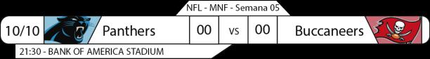 Tudo pelo Futebol Americano - 2016-10-10 - Semana 05 - Monday Night Football - Panthers x Buccaneers