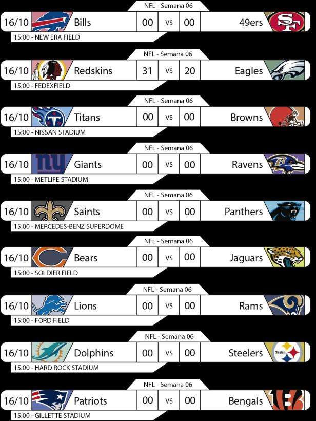 Tudo pelo Futebol Americano - 2016-10-16 - NFL - Semana 06 - Jogos 15h