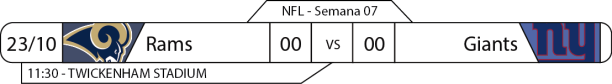 Tudo pelo Futebol Americano - 2016-10-23 - NFL - Semana 07 - Twickenham Stadium - Rams x Giants