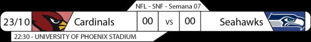 Tudo pelo Futebol Americano - 2016-10-23 - NFL - Semana 07 - Sunday Night Football - Cardinals x Seahawks
