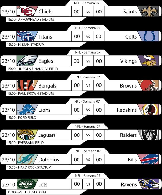 Tudo pelo Futebol Americano - 2016-10-23 - NFL - Semana 07 - Jogos da 15