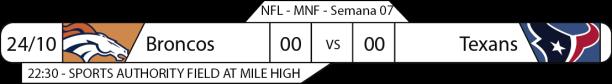 Tudo pelo Futebol Americano - 2016-10-24 - NFL - Semana 07 - Monday Night Football - Broncos x Texans