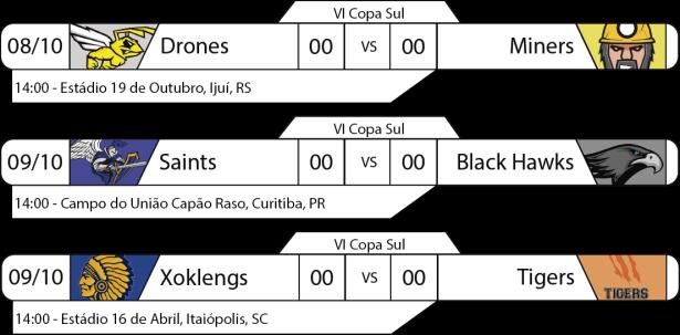 Tudo pelo Futebol Americano - IV Copa Sul - 2016-10-09 - Jogos