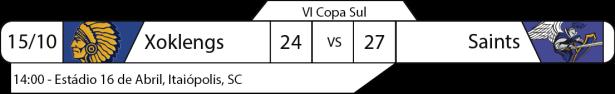 Tudo pelo Futebol Americano -IV Copa Sul - 2016-10-15 - Resultado