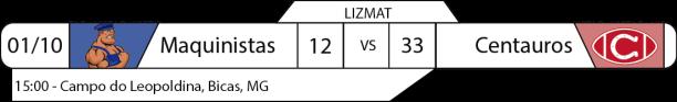 Tudo pelo Futebol Americano - Lizmat - 2016-10-01 - Resultado