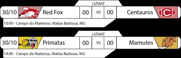 Tudo pelo Futebol Americano - LIZMAT - 30/10/2016 - Jogos