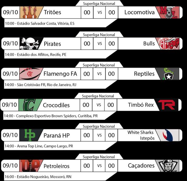 Tudo pelo Futebol Americano - Superliga Nacional - 2016-10-09 - Jogos