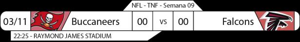 Tudo pelo Futebol Americano - NFL - 03/11/2016 - Semana 09 - Thursday Night Football - Buccaneers x Falcons