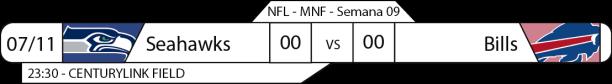 Tudo pelo Futebol Americano - NFL - 07/11/2016 - Semana 09 - Monday Night Football - Seahawks x Bills