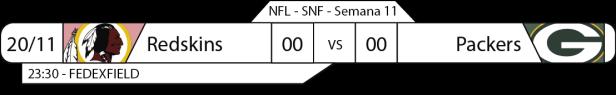 Tudo pelo Futebol Americano - NFL - 20/11/2016 - Semana 11 - Sunday Night Football - Redskins x Packers