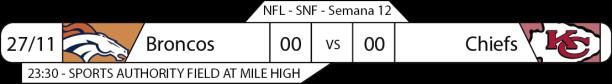 Tudo pelo Futebol Americano - 27/11/2016 - NFL - Semana 12 - Sunday Night Football - Broncos x Chiefs