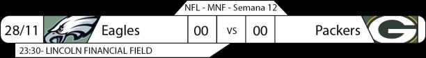 Tudo pelo Futebol Americano - 28/11/2016 - NFL - Semana 12 - Monday Night Football - Eagles x Packers