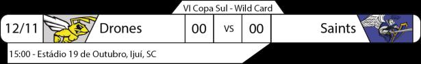Tudo pelo Futebol Americano - IV Copa Sul - 12/11/2016 - Wild Card - Drones x Saints