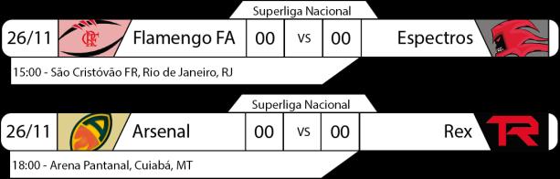 Tudo pelo Futebol Americano - Superliga Nacional - 26/11/2016 - Semifinais