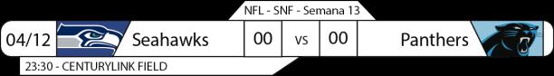 Tudo pelo Futebol Americano - NFL - 04/12/2016 - Semana 13 - Sunday Night Football - Seahawks x Panthers