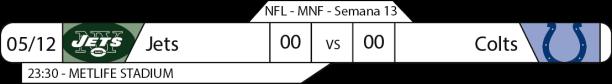 Tudo pelo Futebol Americano - NFL - 05/12/2016 - Semana 13 - Monday Night Football - Jets x Colts