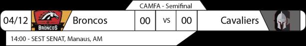 Tudo pelo Futebol Americano - Campeonato Amazonense (CAMFA) - 04/12/2016 - Semifinal - Broncos x Cavaliers