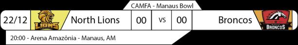 Tudo pelo Futebol Americano - Campeonato Amazonense (CAMFA) - 18/12/2016 - Manaus Bowl - North Lions x Broncos