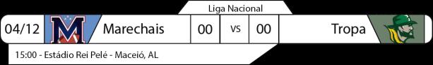 TPFA - Liga Nacional - 04/12/2016 - Final Liga Nordeste - Maceió Marechais x Tropa Campina