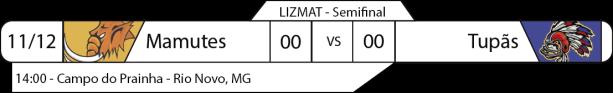 Tudo pelo Futebol Americano - Liga da Zona da Mata (LIZMAT) - 11/12/2016 - Semifinal - Mamutes x Tupãs