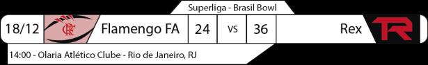Tudo pelo Futebol Americano - Superliga Nacional - 18/12/2016 - Brasil Bowl - Flamengo 24 x Rex 36