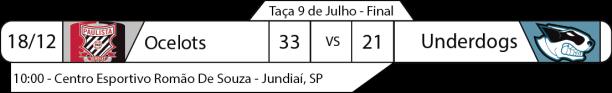 Tudo pelo Futebol Americano - Taça 9 de Julho - 18/12/2016 - Ocelots 33 x Underdogs 21