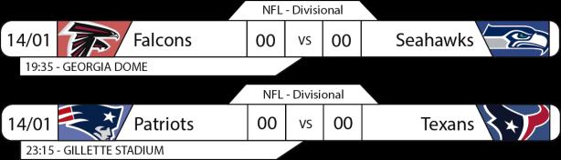 Tudo pelo Futebol Americano - NFL - 14/01/2017 - Playoffs - Divisional Round