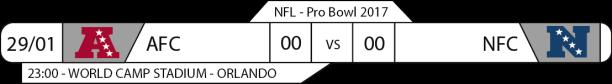 Tudo pelo Futebol Americano - NFL - 29/01/2017 - Pro Bowl Game - AFC x NFC