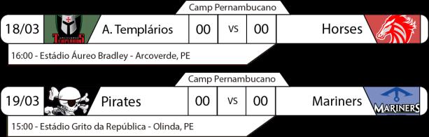 Tudo pelo Futebol Americano - Campeonato Pernambucano - 18 e 19/03/2017 - 1a Divisão - Jogos