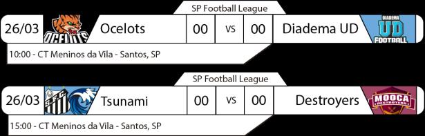 Tudo pelo Futebol Americano - São Paulo Football League - 25 e 26/03/2017 - Troféu Landmark 2017 - Jogos