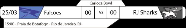 Tudo pelo Futebol Americano - Carioca Bowl - 25/03/2017