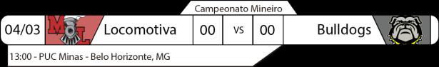 Tudo pelo Futebol Americano - FABR - Campeonato Mineiro - 04/03/2017 - Locomotiva x Bulldogs