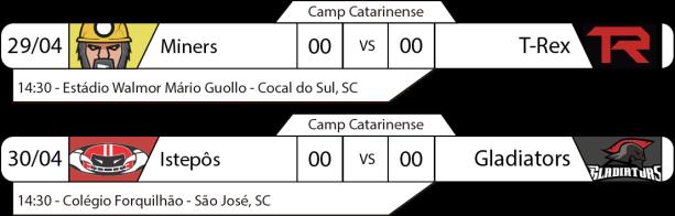 TPFA - Campeonato Catarinense - 2017-04-29 e 30 - Jogo