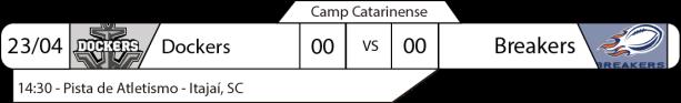 TPFA - Campeonato Catarinense - 23-04-2017 - Jogo