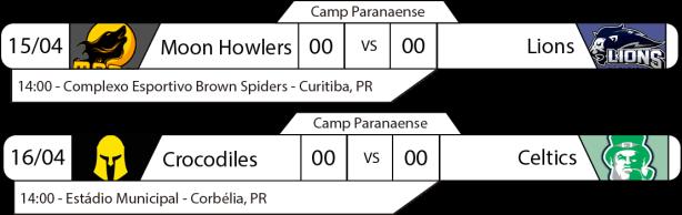 TPFA - Campeonato Paranaense - 2017-04-15 e 16 - Jogos