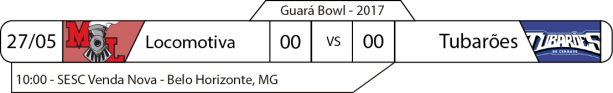 Guará Bowl - 2017-05-28 - Minas Locomotiva x Tubarões do Cerrado